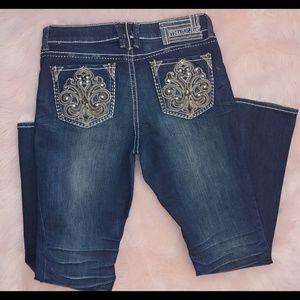 Hydraulic gramercy dark wash boot cut jeans